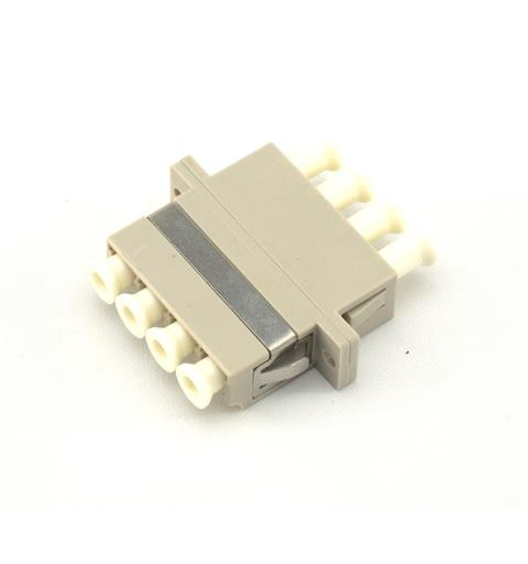 LC Quad Adapter MM OM1/OM2 Beige