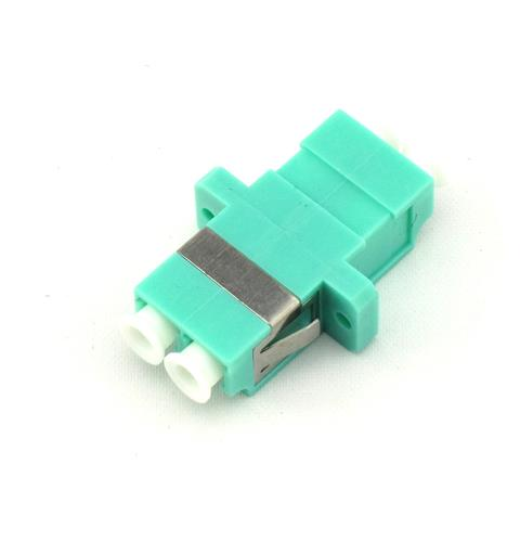 LC Duplex adapter MM OM3 Aqua
