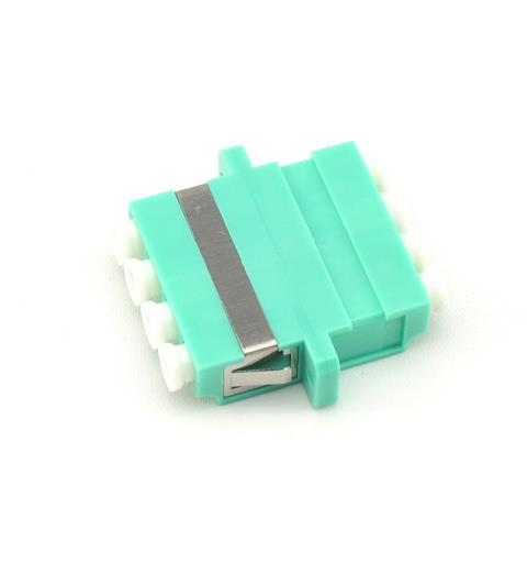 LC Quad Adapter MM OM3 Aqua