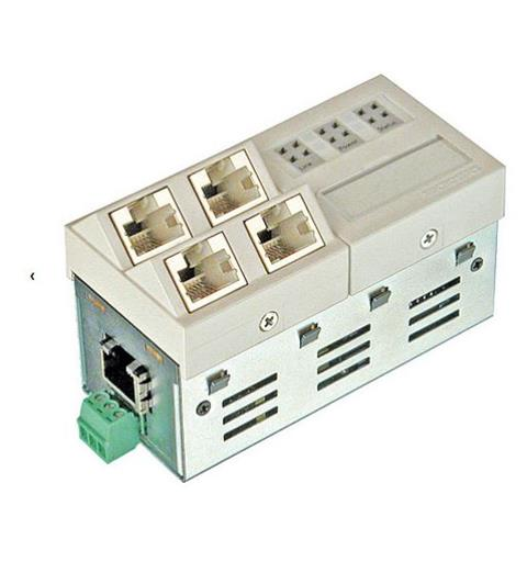 GbE Inst.Switch 45x45V TP 230V 4x10/100/1000T +1Up/+1 Downlink,