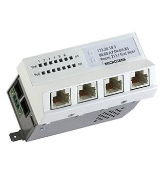 GbE Inst.Switch 45x45H SFP 230V 4x10/100/1000TX, 1x1000BaseX SFP Port