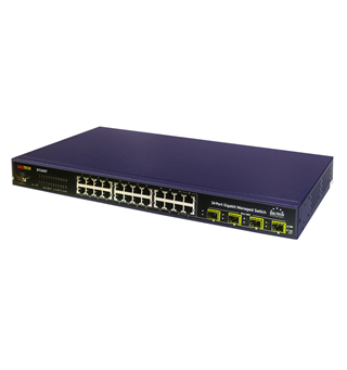 Soltech SFC4000HP Managed PoE Switch 24 x100/1000 TP + 4-slot SFP 400W
