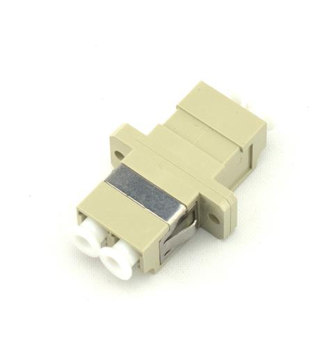 LC Duplex adapter MM OM1/OM2 Beige